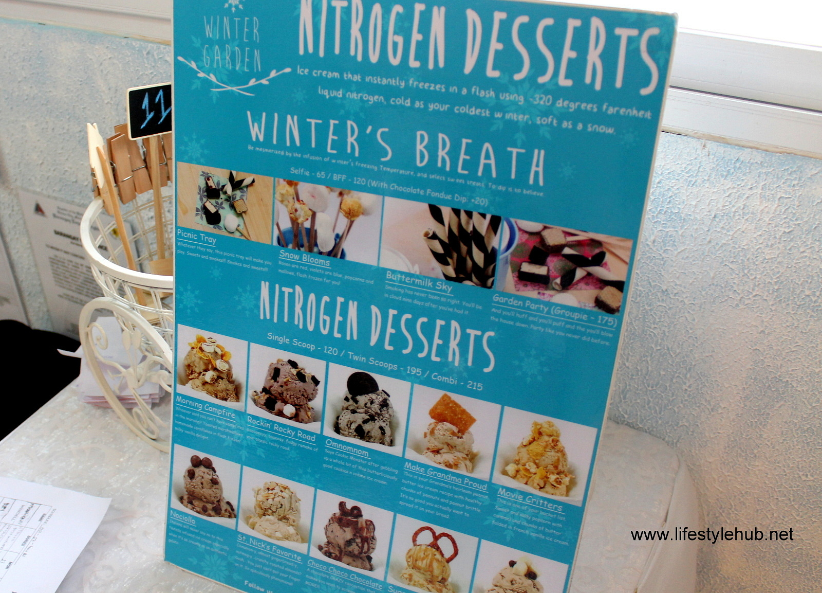 winter garden desserts liquid nitrogen ice cream