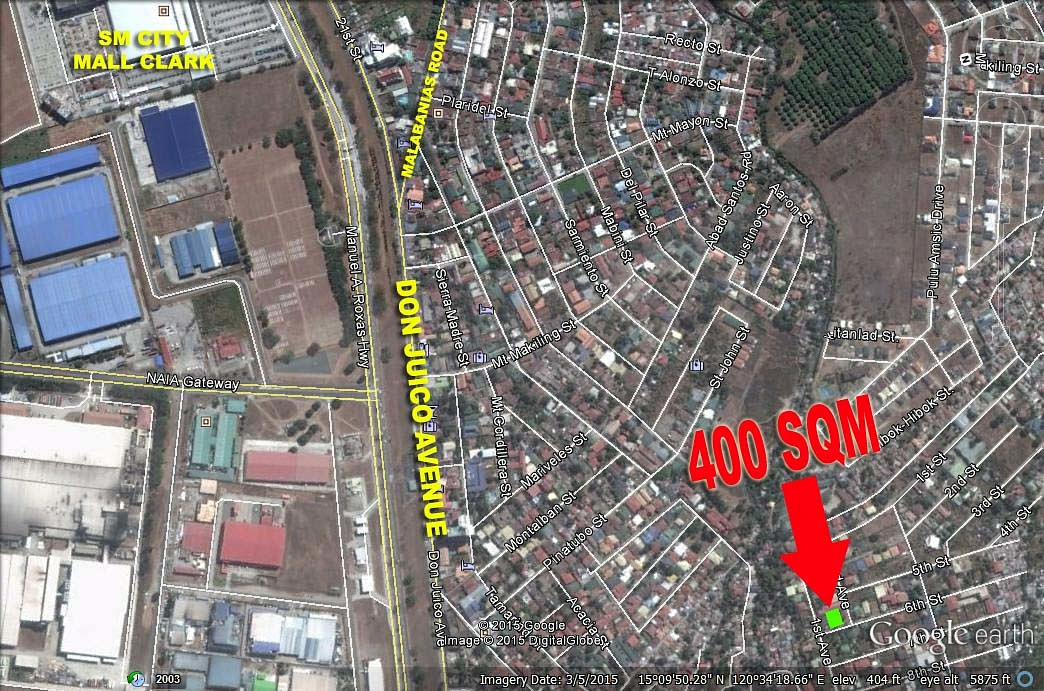 NOLONGER AVAILABLE! Lot Angeles City Plaridel 2, near Clark Ref# 0000666A
