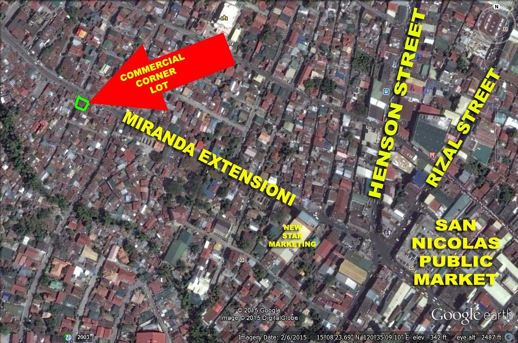 SOLD! Corner Commercial Lot for Sale Angeles City! Ref# 0000670