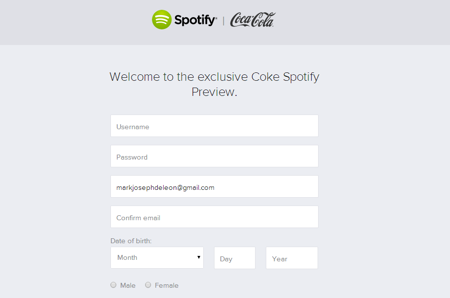 coca-cola partners with spotify