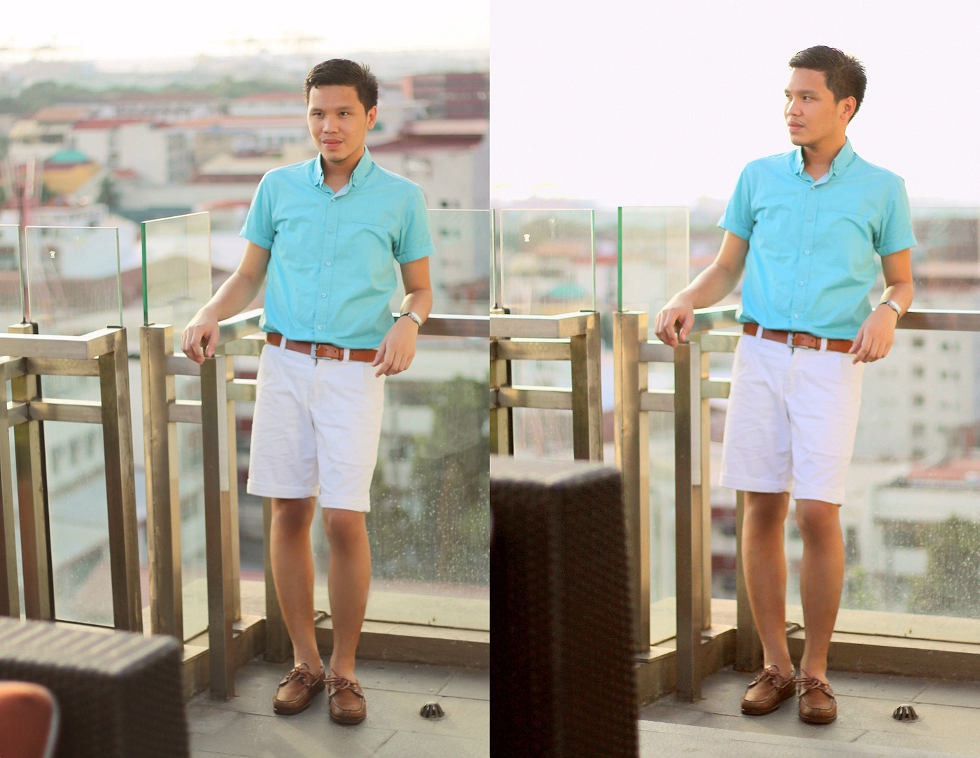 maldita man top, giordano shorts, sebago shoes for men